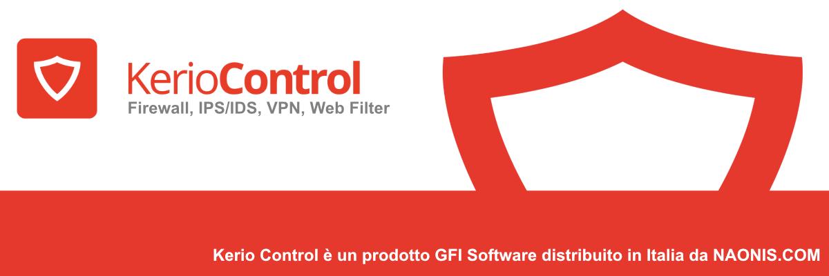 Kerio Control Firewall Filtro di contenuti VPN UTM Load Balancing, Web Filter, Anti Virus al perimetro